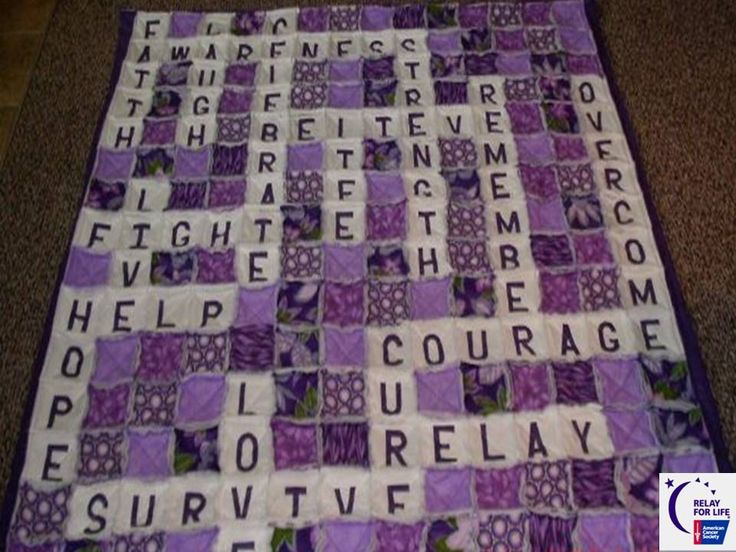 17 Best Images About Relay For Life Quilts On Pinterest