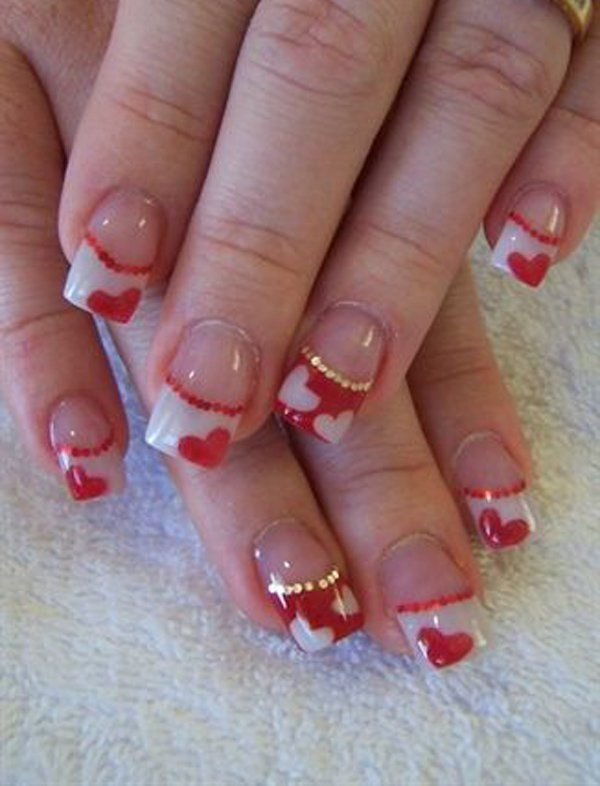 1000+ ideas about Valentine Nails on Pinterest