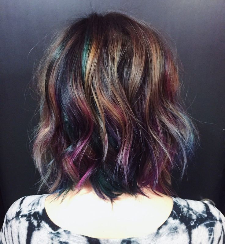 Best 20+ Colored hair streaks ideas on Pinterest
