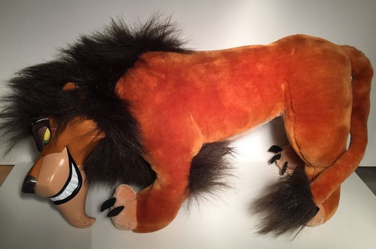 18 Disney Scar Plush Stuffed Toy With Vinyl Face The Lion King Applause RARE Applause  Toys