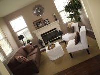 family room dark brown sofa