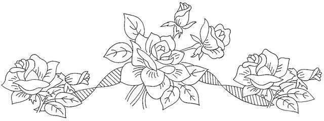 17 Best images about ROSE EMBROIDERY PATTERNS on Pinterest
