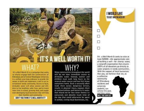 Charity Water Brochure Fundraising Brochure Design