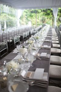 Gray & White King's Table. Wedding Planning by Simply Wed
