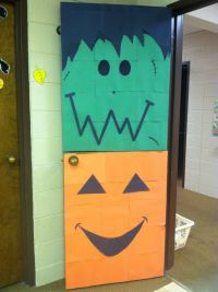 Halloween door decorations | Little Hands | Pinterest ...