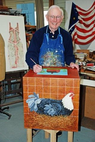 Warren Kimble Great Folk Artist Graduated From Syracuse