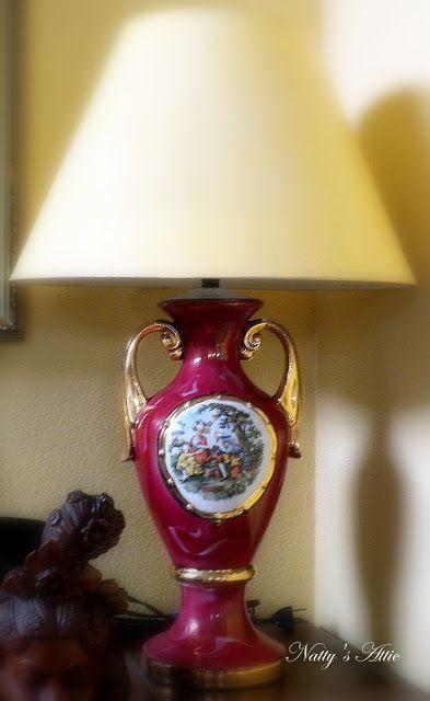 Nattys Attic Vintage George  Martha Washington Lamp