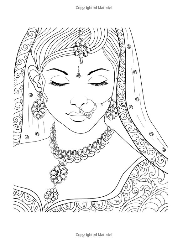624 best images about Coloring pages (portraits) for grown