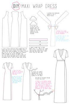 25+ best ideas about Wrap dress tutorials on Pinterest