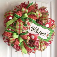 25+ best ideas about Welcome wreath on Pinterest
