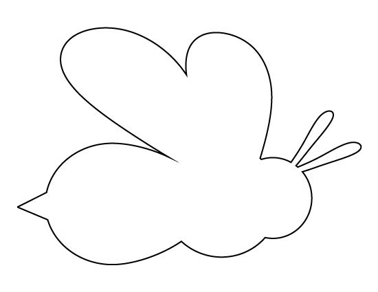 Bee pattern. Use the printable outline for crafts