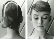 1950s ponytail with hair scarf