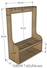 Vertical Gun Rack Plans Free - WoodWorking Projects & Plans