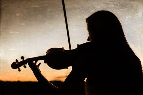 Senior Portrait Photography Music Violin Silhouette Senior Photography Pinterest Beautiful
