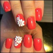 ideas coral nails