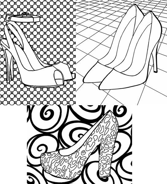 362 best images about Adult Colouring~Shoes~Feets~Hands