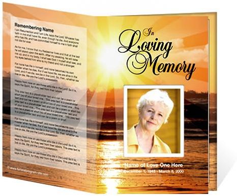 218 Best Creative Memorials With Funeral Program Templates