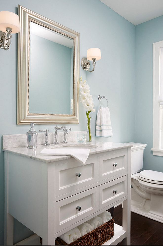 25 best ideas about Light blue bathrooms on Pinterest  Blue bathroom paint Guest bathroom