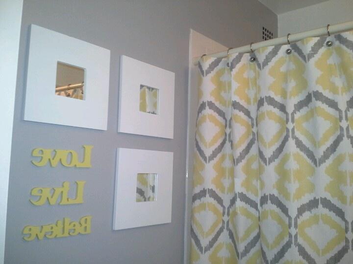Yellow & Gray Bathroom Inspiration