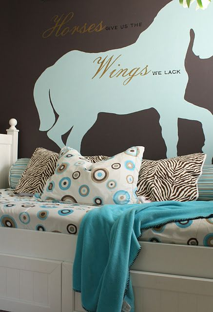 Lovely horse bedroom My daughterCountry Horsegirl  would LOVE it  For the kids  Pinterest