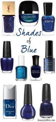 ideas navy nail