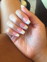 1000+ ideas about French Tip Acrylics on Pinterest ...