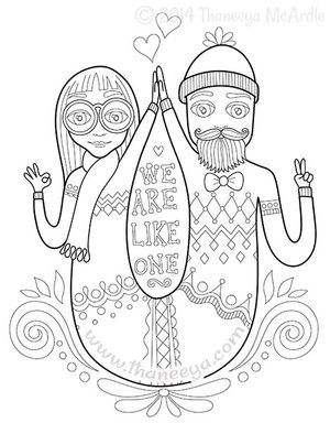 We Are Like One Coloring Page by Thaneeya McArdle