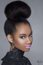 natural bun hairstyles