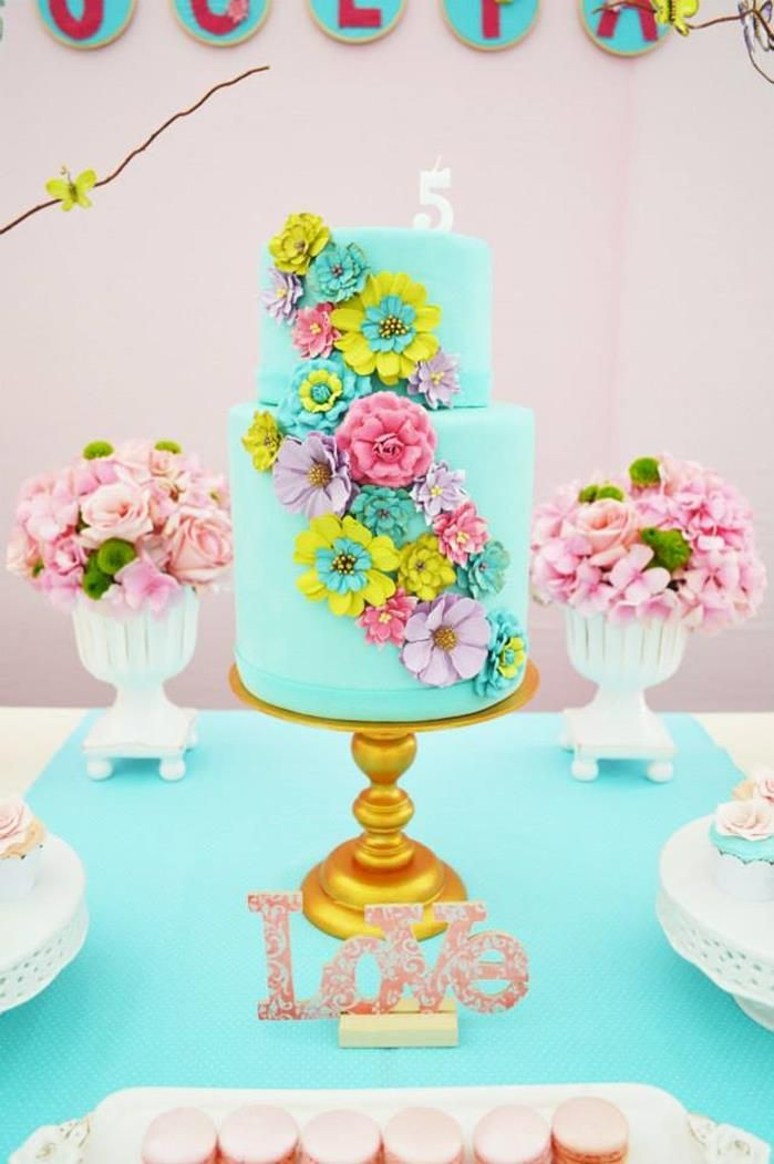 25 Best Ideas About Garden Party Cakes On Pinterest Rainbow