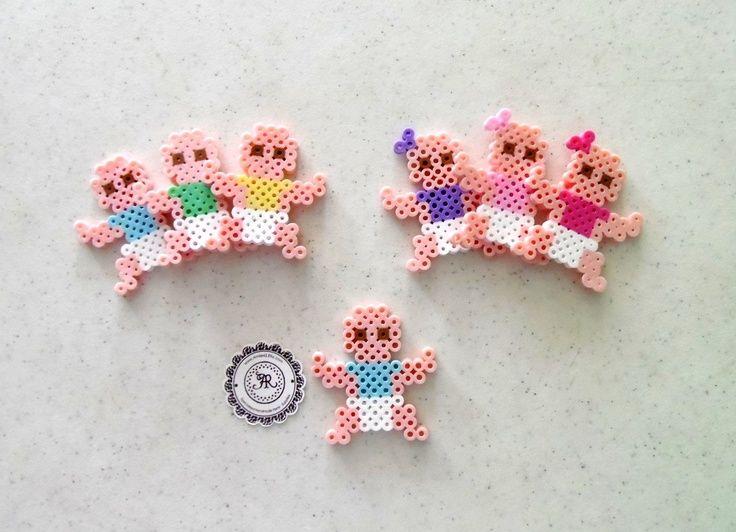 Baby Boy or Baby Girl Babies Perler Beads Decorative door