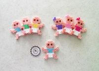 Baby Boy or Baby Girl Babies Perler Beads Decorative door ...