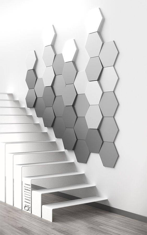 Hexagon Wallpaper 3d Hexagon Wall Panel Www Kalithea Pl Hexagon Pinterest