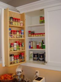 Tedd Wood Spice Storage on inside of cabinet door ...