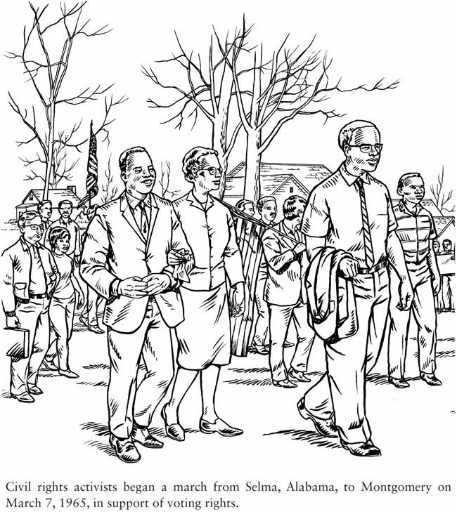 Dover Publications Civil Rights coloring book--free sample
