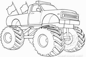 Trucks, Monster trucks and Drawings on Pinterest