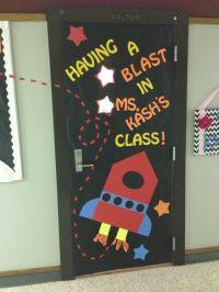 Space theme classroom door! =) | in the class | Pinterest ...
