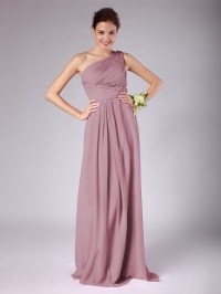Lovely Chiffon Bridesmaid Dress Dusty Rose Wedding colors ...