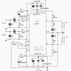 Fujitsu Ten 86100 Wiring Diagram 2004 Toyota Camry Exhaust System Audio Amplifier Using Ic Lm4780 Circuit Auto Electrical