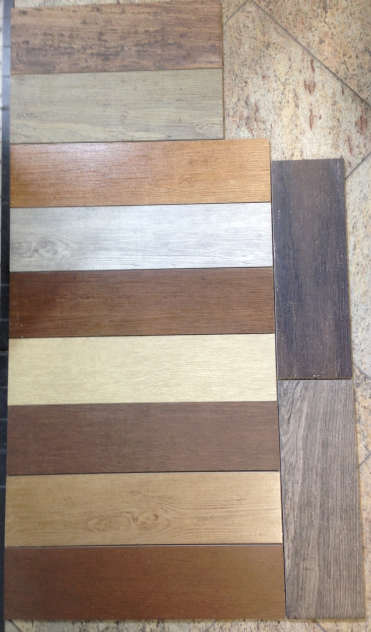 Wood grain porcelain tile  Flooring  Pinterest