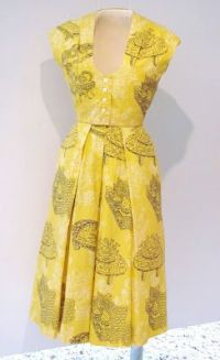 DeDe Johnson, from the 1950's, yellow cotton patio outfit ...