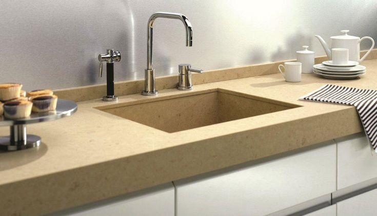 Caesarstone countertops in Jerusalem Sand 4250  give your kitchen decor a stylish finish with