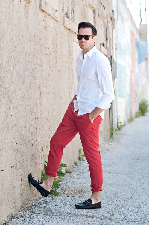 14 Best Images About Red Pants Mens Fashion On Pinterest
