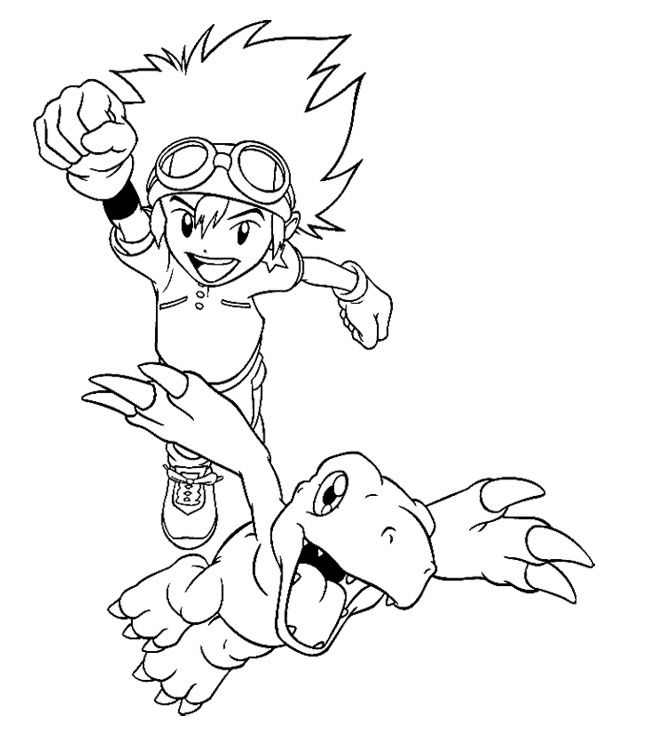 17 best images about Digimon Coloring Page on Pinterest