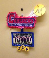 Softball team door decorations. No more knocking on random ...