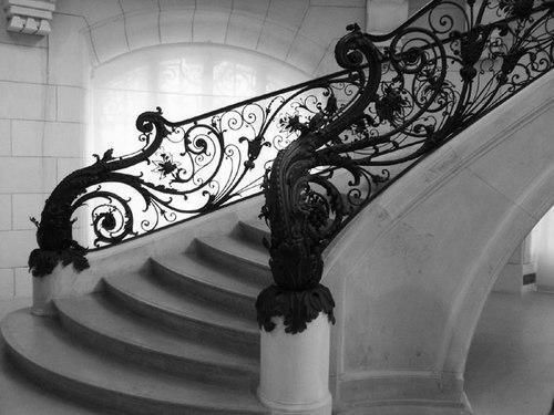 My house WILL have one or two formal stairs just like this, and at least one narrow, tight winding stair in the back for informal