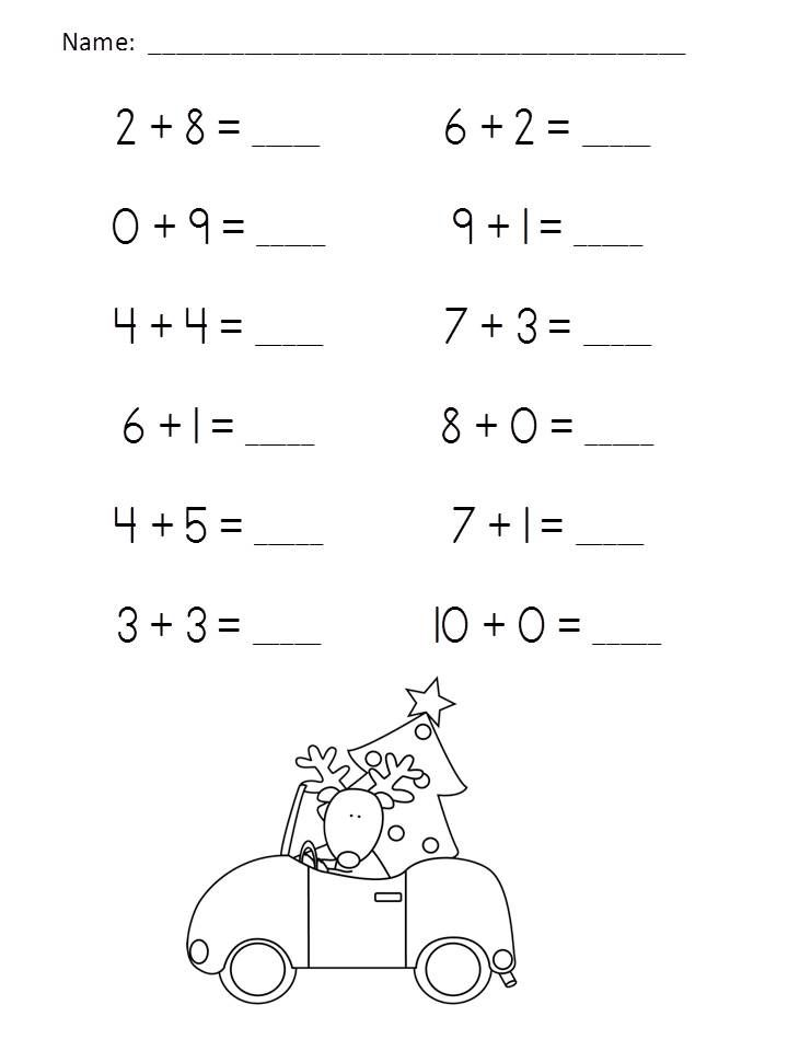 Christmas Addition Practice Packet (Sums of 6-10) $ http