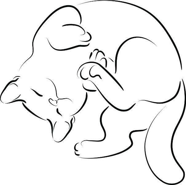 Light & Dark Orange w/white Tabby silhouette with kitty