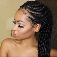 25+ best ideas about Black women braids on Pinterest