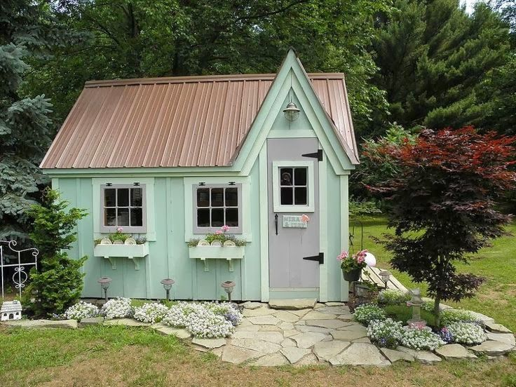 whimsical garden sheds daily