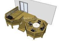 6 sizes for free download on this 2 level deck | Free Deck ...